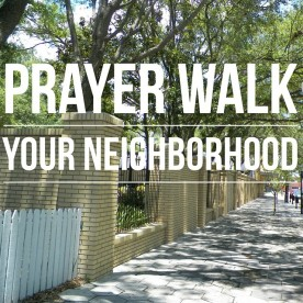 Prayer Walk your Neighborhood and Pray for the things that you see.